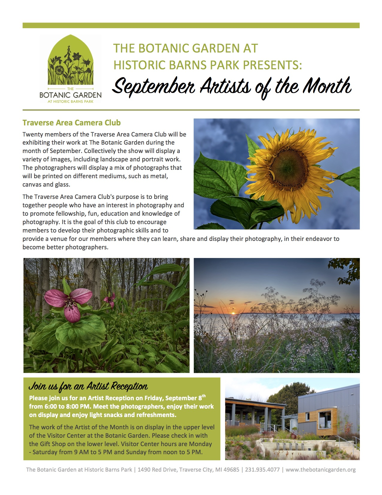 September Artist of the Month Reception